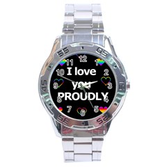 Proudly Love Stainless Steel Analogue Watch by Valentinaart