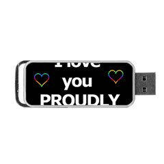Proudly Love Portable Usb Flash (two Sides) by Valentinaart