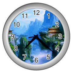 Fantasy Nature Wall Clocks (silver)  by Brittlevirginclothing