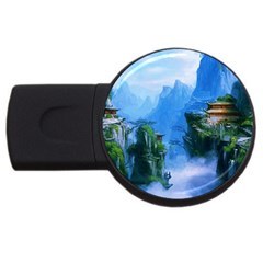 Fantasy Nature Usb Flash Drive Round (2 Gb)  by Brittlevirginclothing