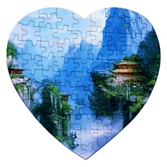 Fantasy Nature Jigsaw Puzzle (heart) by Brittlevirginclothing