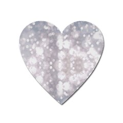 Light Circles, Rouge Aquarel Painting Heart Magnet by picsaspassion