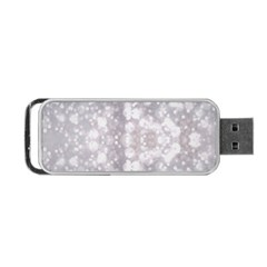 Light Circles, Rouge Aquarel Painting Portable Usb Flash (one Side)