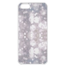 Light Circles, Rouge Aquarel Painting Apple Iphone 5 Seamless Case (white)