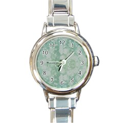 Light Circles, Mint Green Color Round Italian Charm Watch by picsaspassion