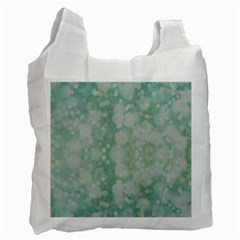 Light Circles, Mint Green Color Recycle Bag (two Side)  by picsaspassion