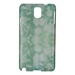 Light Circles, Mint Green Color Samsung Galaxy Note 3 N9005 Hardshell Case by picsaspassion