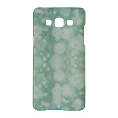 Light Circles, Mint Green Color Samsung Galaxy A5 Hardshell Case  by picsaspassion