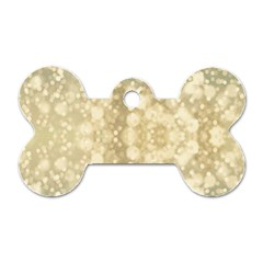 Light Circles, Brown Yellow Color Dog Tag Bone (two Sides) by picsaspassion