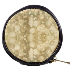 Light Circles, Brown Yellow Color Mini Makeup Bags by picsaspassion