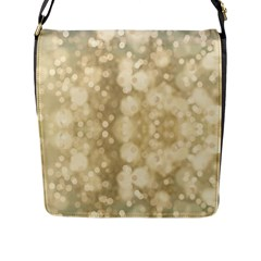 Light Circles, Brown Yellow Color Flap Messenger Bag (l)  by picsaspassion
