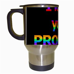 I Love You Proudly Travel Mugs (white) by Valentinaart
