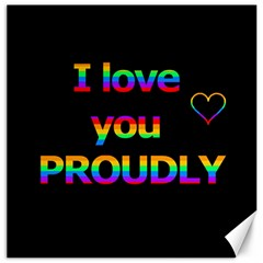 I Love You Proudly Canvas 12  X 12   by Valentinaart