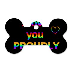 I Love You Proudly Dog Tag Bone (two Sides) by Valentinaart