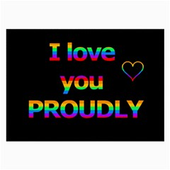 I Love You Proudly Large Glasses Cloth by Valentinaart