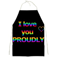 I Love You Proudly Full Print Aprons