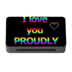 I Love You Proudly Memory Card Reader With Cf by Valentinaart
