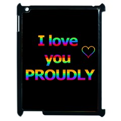 I Love You Proudly Apple Ipad 2 Case (black) by Valentinaart