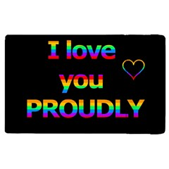 I Love You Proudly Apple Ipad 3/4 Flip Case by Valentinaart