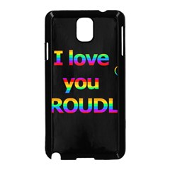 I Love You Proudly Samsung Galaxy Note 3 Neo Hardshell Case (black)