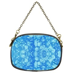 Light Circles, Dark And Light Blue Color Chain Purses (one Side)  by picsaspassion
