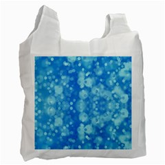 Light Circles, Dark And Light Blue Color Recycle Bag (one Side) by picsaspassion