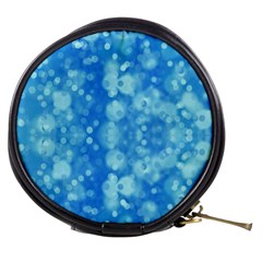 Light Circles, Dark And Light Blue Color Mini Makeup Bags by picsaspassion