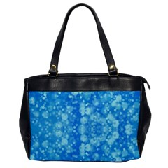 Light Circles, Dark And Light Blue Color Office Handbags by picsaspassion