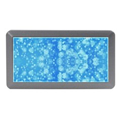 Light Circles, Dark And Light Blue Color Memory Card Reader (mini) by picsaspassion