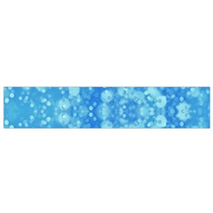 Light Circles, Dark And Light Blue Color Flano Scarf (small) by picsaspassion