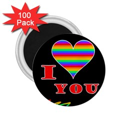 I Love You 2 25  Magnets (100 Pack)  by Valentinaart