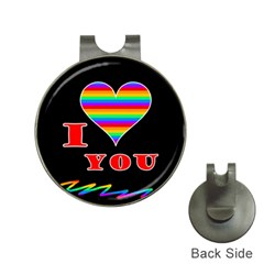 I Love You Hat Clips With Golf Markers by Valentinaart