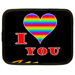 I Love You Netbook Case (xl)  by Valentinaart