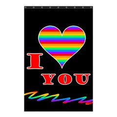 I Love You Shower Curtain 48  X 72  (small)  by Valentinaart