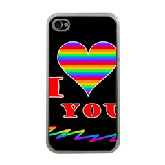 I Love You Apple Iphone 4 Case (clear) by Valentinaart