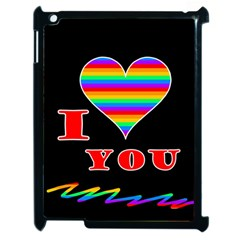 I Love You Apple Ipad 2 Case (black) by Valentinaart