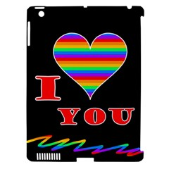 I Love You Apple Ipad 3/4 Hardshell Case (compatible With Smart Cover) by Valentinaart