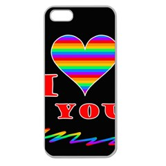 I Love You Apple Seamless Iphone 5 Case (clear) by Valentinaart