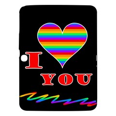 I Love You Samsung Galaxy Tab 3 (10 1 ) P5200 Hardshell Case  by Valentinaart