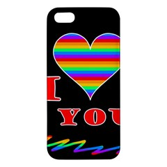 I Love You Iphone 5s/ Se Premium Hardshell Case by Valentinaart