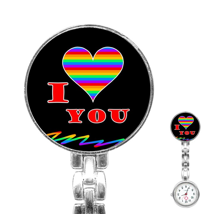 I love you Stainless Steel Nurses Watch