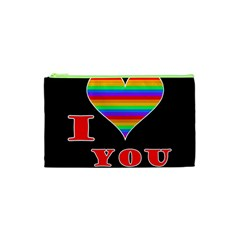 I Love You Cosmetic Bag (xs) by Valentinaart