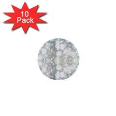 Light Circles, Blue Gray White Colors 1  Mini Buttons (10 Pack)
