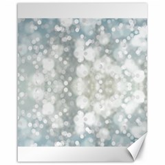 Light Circles, Blue Gray White Colors Canvas 16  X 20   by picsaspassion