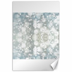 Light Circles, Blue Gray White Colors Canvas 24  X 36