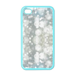 Light Circles, Blue Gray White Colors Apple Iphone 4 Case (color) by picsaspassion