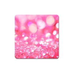 Pink Diamond  Square Magnet by Brittlevirginclothing