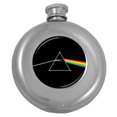 Pink Floyd  Round Hip Flask (5 Oz) by Brittlevirginclothing