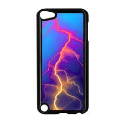 Lightning Colors, Blue Sky, Pink Orange Yellow Apple Ipod Touch 5 Case (black)