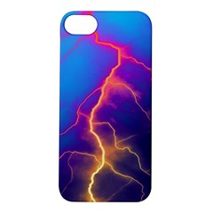 Lightning Colors, Blue Sky, Pink Orange Yellow Apple Iphone 5s/ Se Hardshell Case by picsaspassion